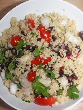 quinoa black bean salad recipe simple