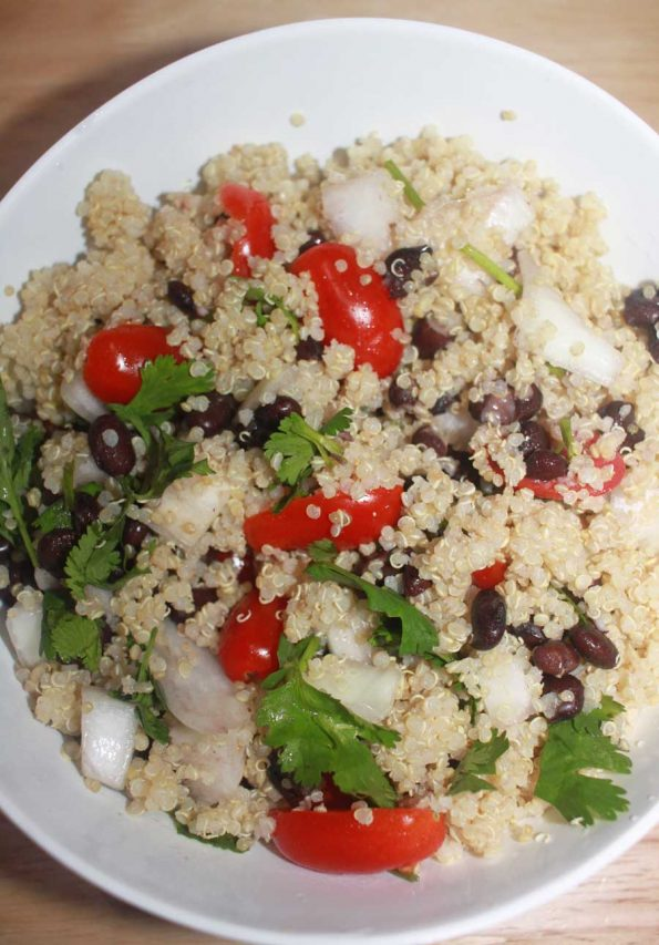 quinoa black bean salad recipe simple