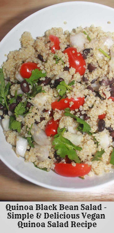 quinoa black bean salad recipe with cherry tomatoes