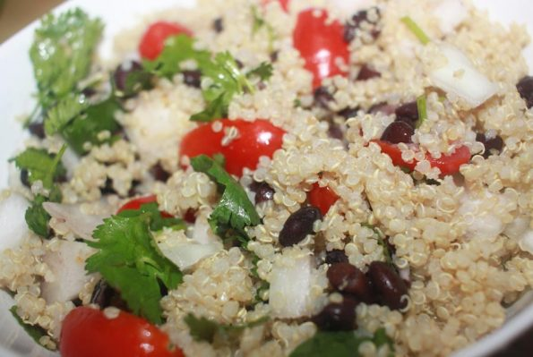 quinoa black bean salad vegan recipe
