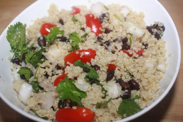 quinoa black bean salad with lime dressing