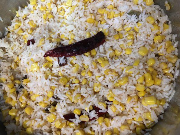 ponni rice pulao with corn