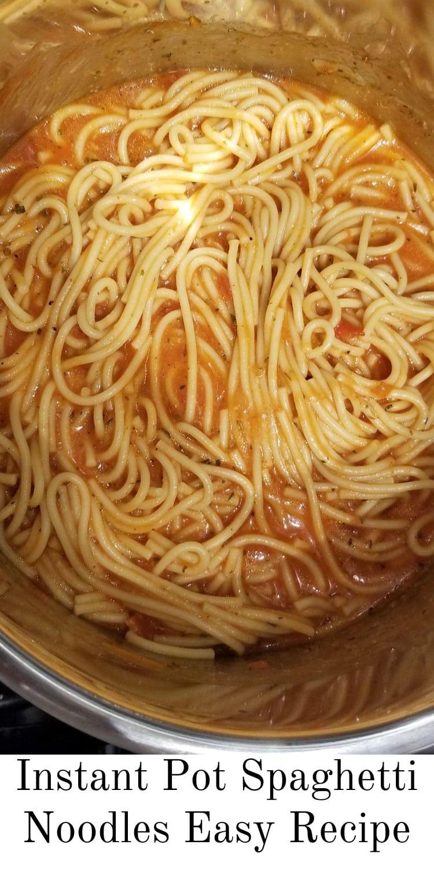 instant pot spaghetti noodles recipe
