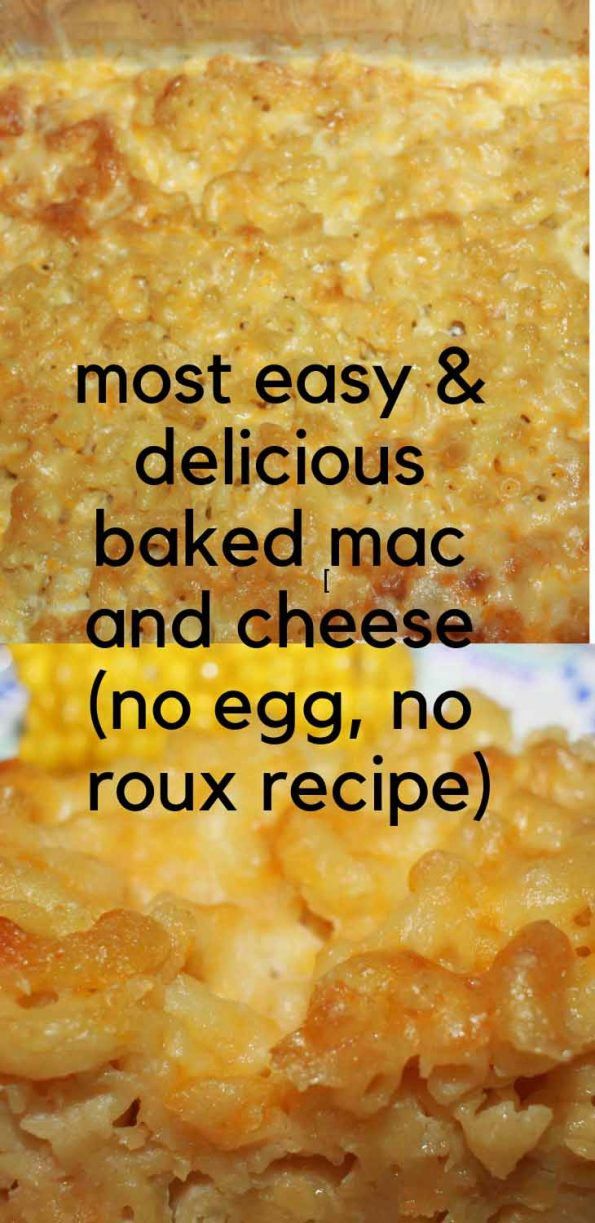 easy baked mac and cheese without roux