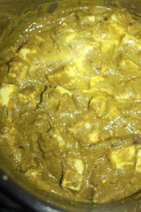 instant pot palak paneer indian