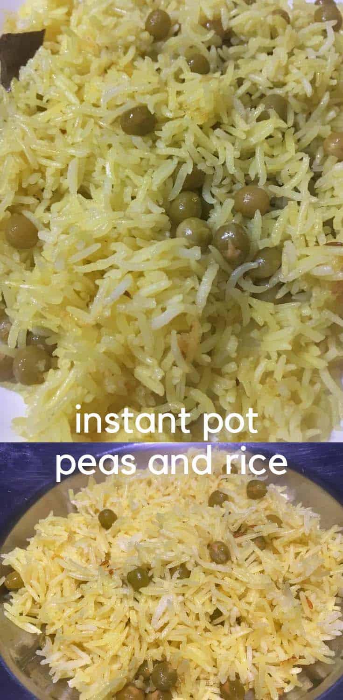 instant pot peas pulao recipe