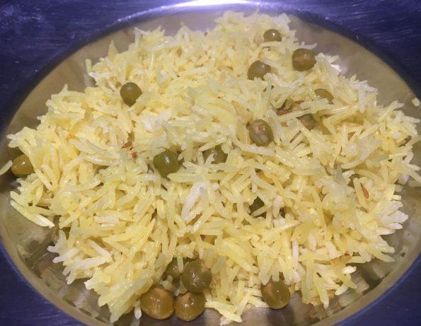 instant pot peas pulao rice pilaf