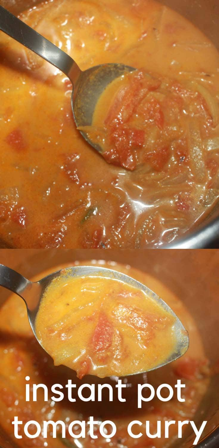 instant pot tomato curry
