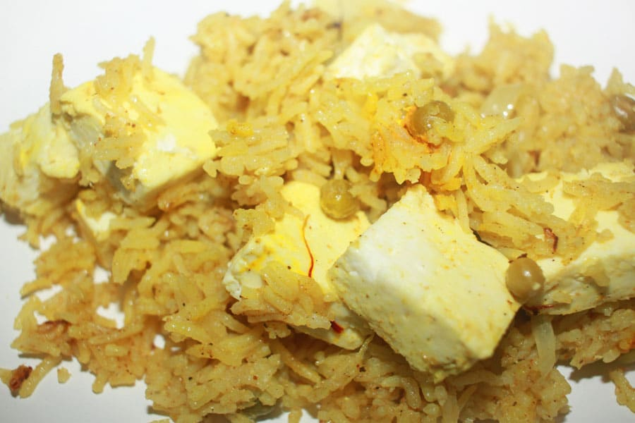 instant pot vegetable biryani recipe with paneer
