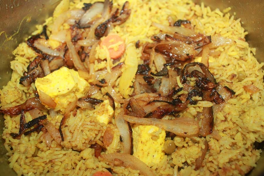 instant pot vegetable biryani with paneer