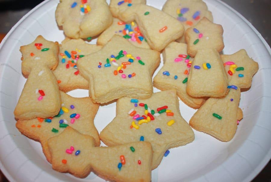 cut out sugar cookies with sprinkles