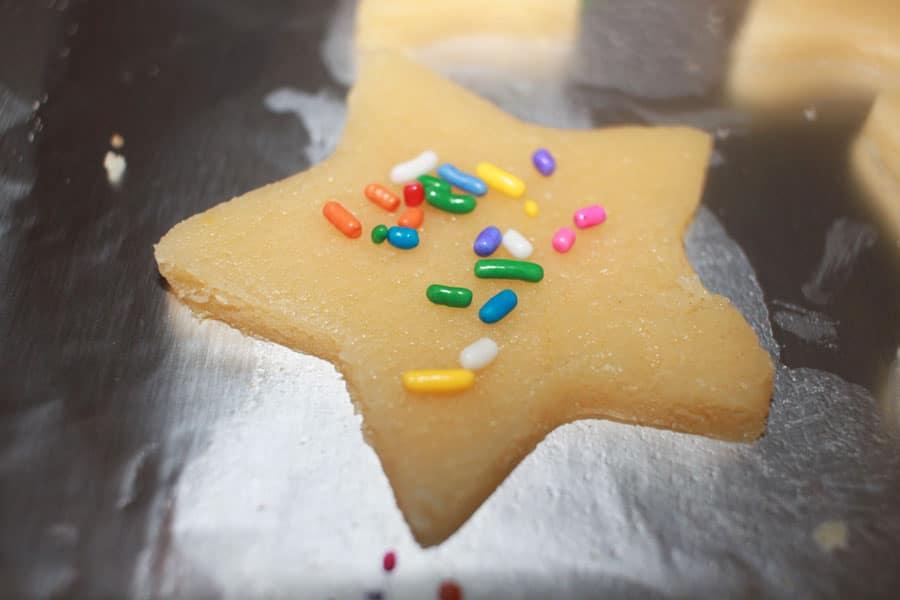 star sugar cookies with sprinkles