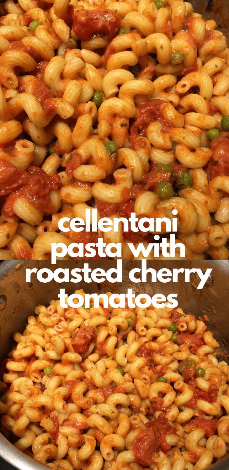 cellentani pasta recipe with roasted cherry tomatoes