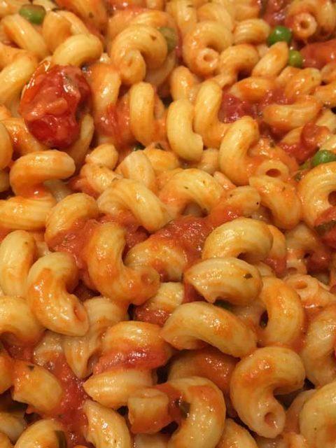 cellentani pasta in creamy tomato sauce
