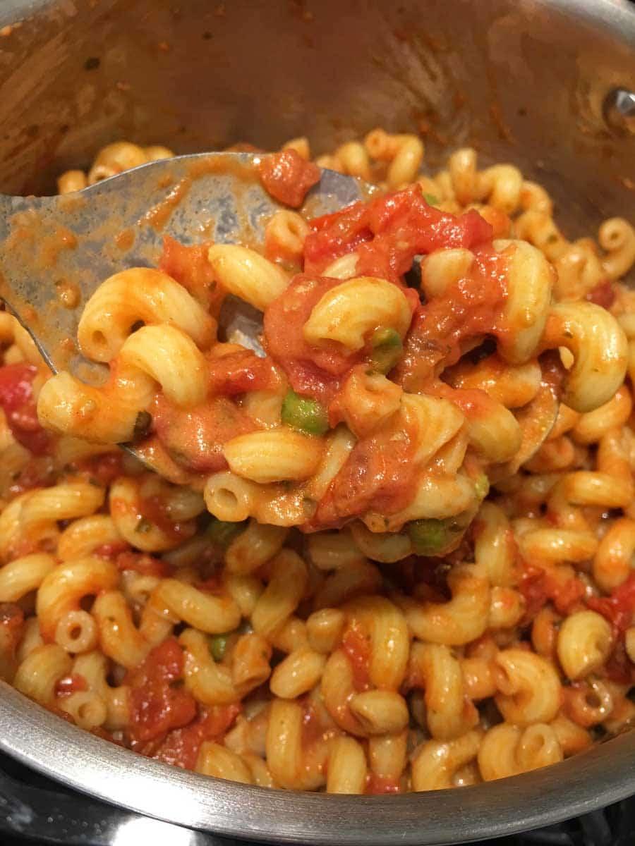 creamy tomato cellentani pasta