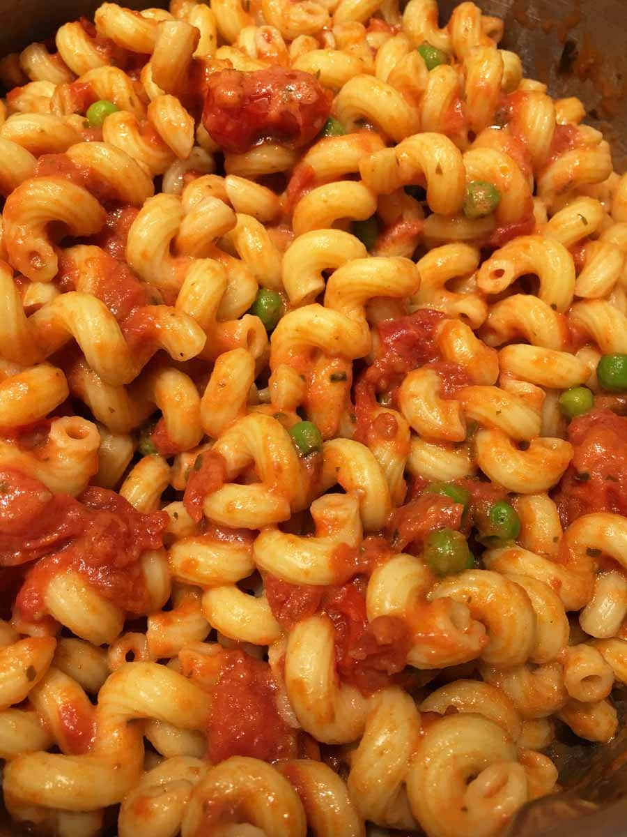 creamy tomato pasta with roasted cherry tomatoes