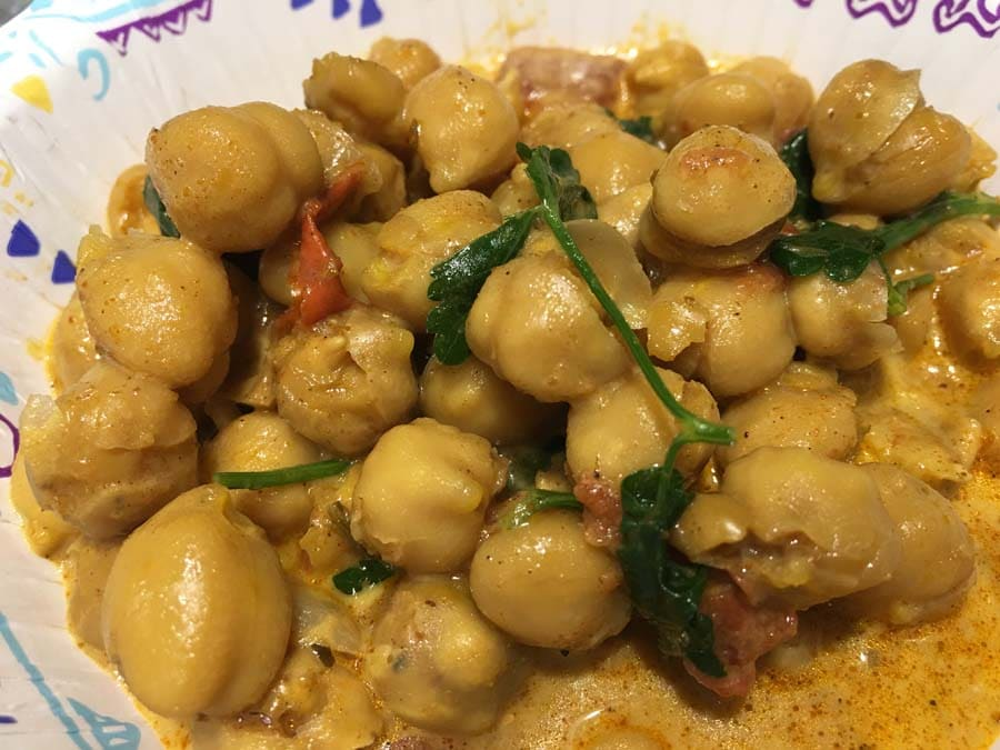 instant pot chickpea curry dump start