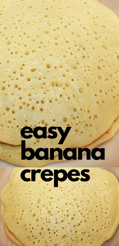 banana crepes recipe with baking powder