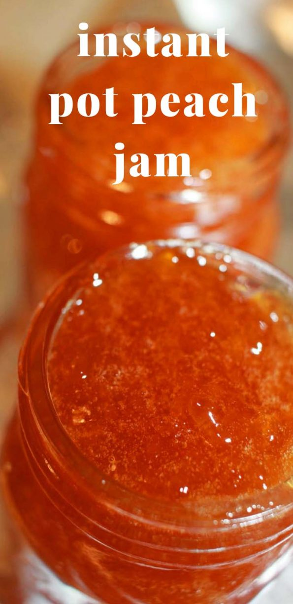 easy instant pot peach jam