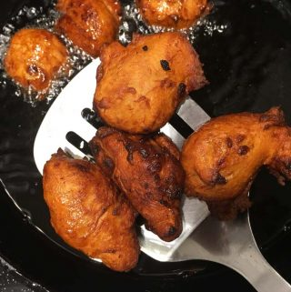 fried banana bread batter balls