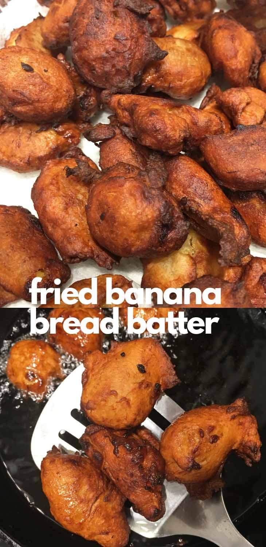 fried banana bread batter balls recipe