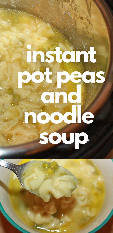 instant pot pea soup with egg noodles