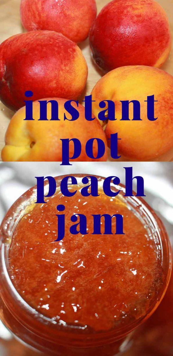 instant pot peach jam recipe without pectin