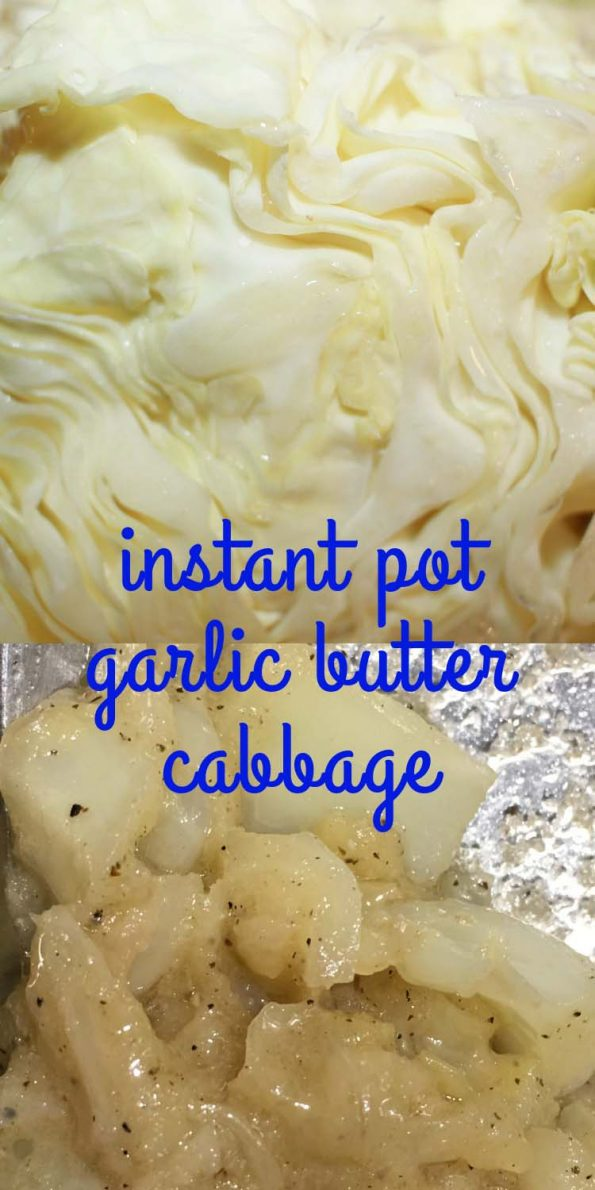instant pot buttered cabbage vegetarian recipe