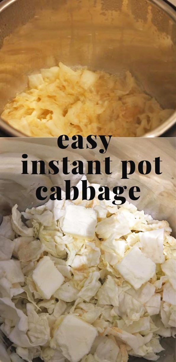 instant pot buttered garlic cabbage