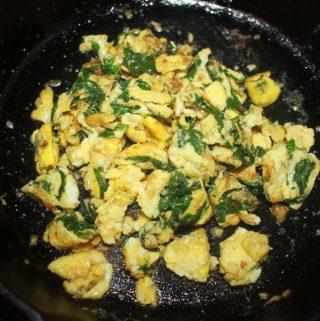 spinach egg scramble recipe