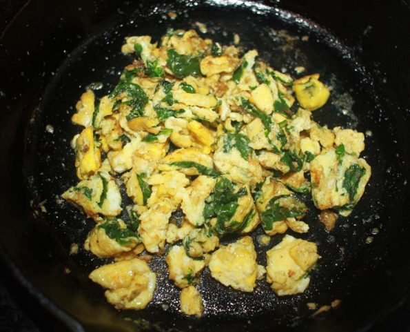 spinach egg scramble recipe
