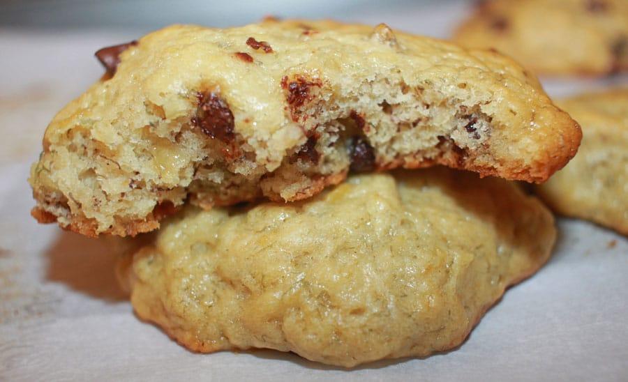 banana chocolate chip cookies soft vegan