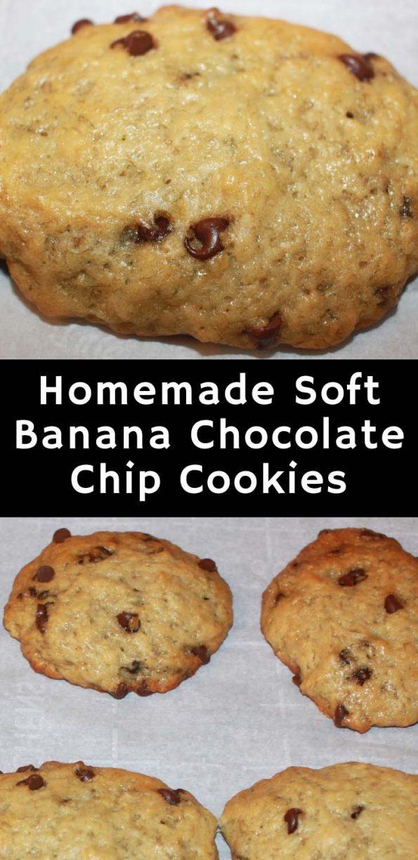 banana chocolate chip cookies vegan recipe scratch