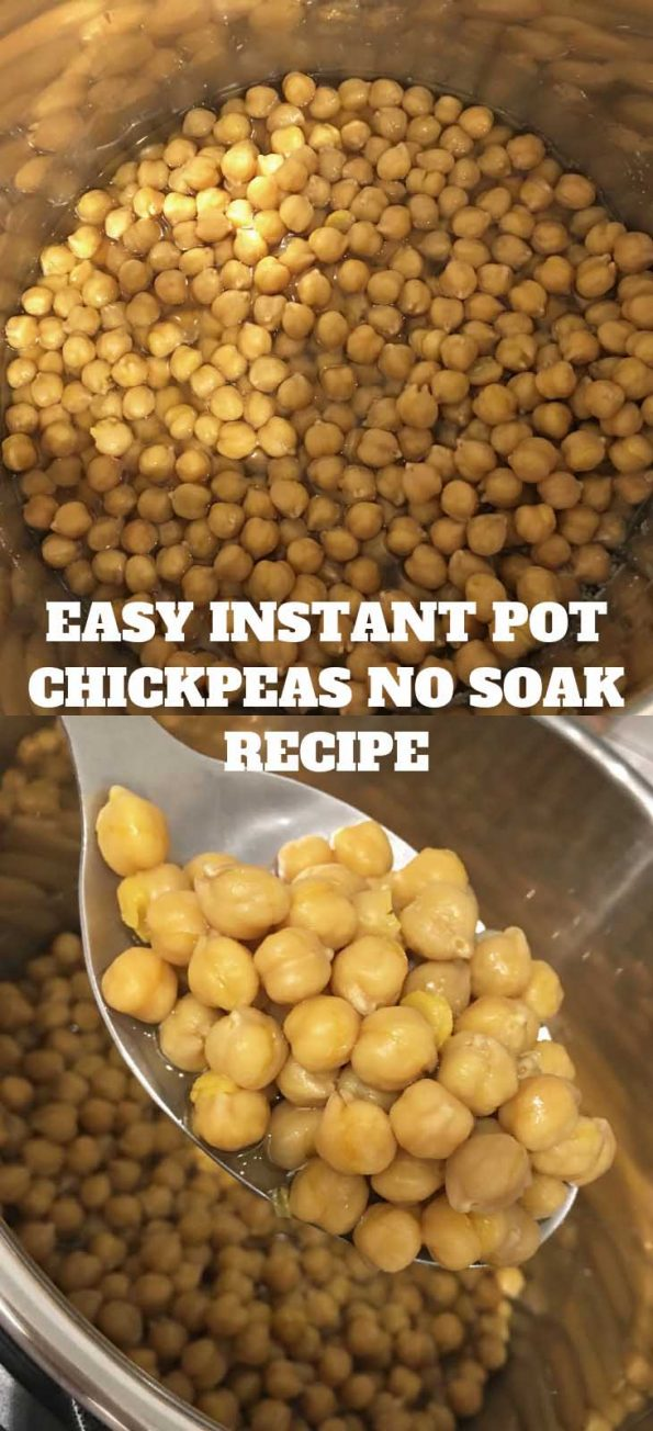 instant pot chickpeas no soak recipe