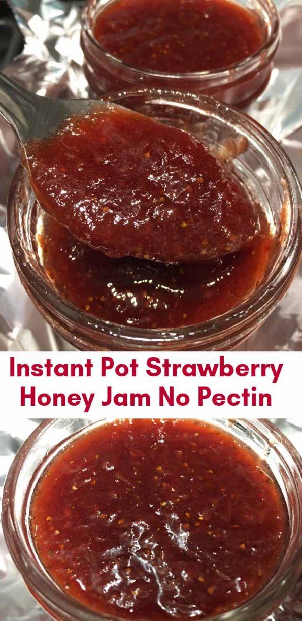 instant pot strawberry honey jam