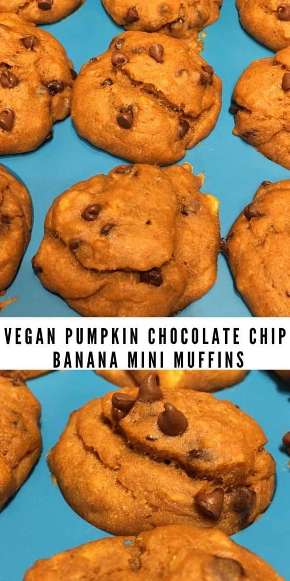 pumpkin chocolate chip mini muffins vegan