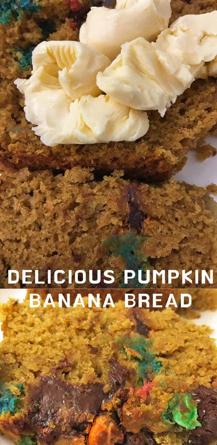 pumpkin banana bread with olive oil