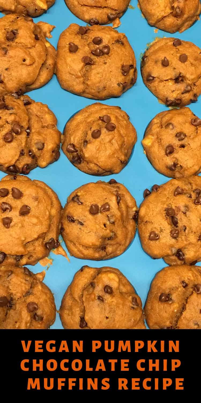 pumpkin chocolate chip mini muffins vegan recipe