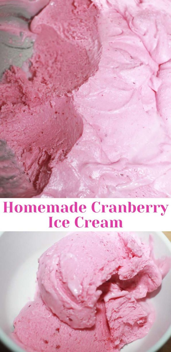Cranberry Ice Cream