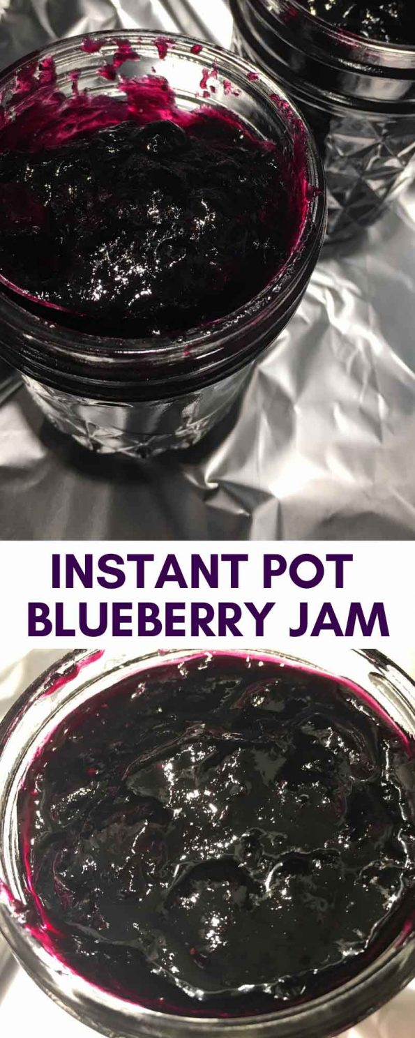 instant pot blueberry jam without pectin