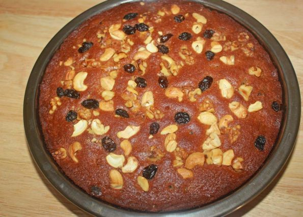 moist dry fruit cake easy recipe