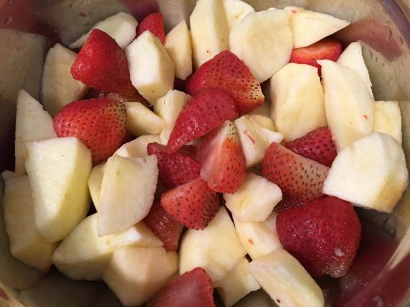 strawberries and apples