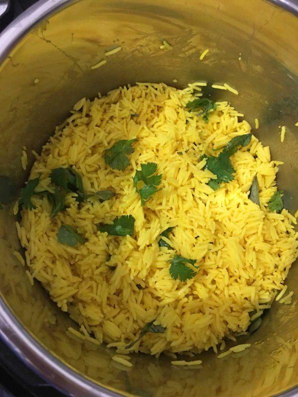 instant pot yellow basmati rice