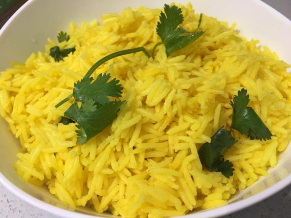 instant pot yellow rice with turmeric