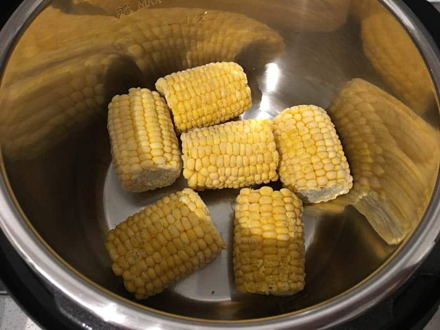 mini frozen corn ears instant pot