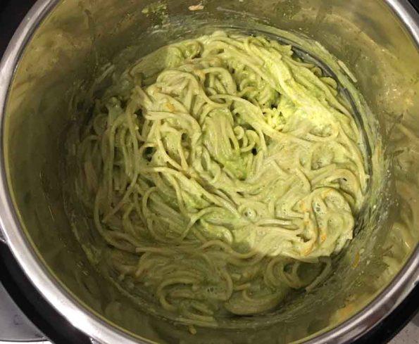 green pasta instant pot