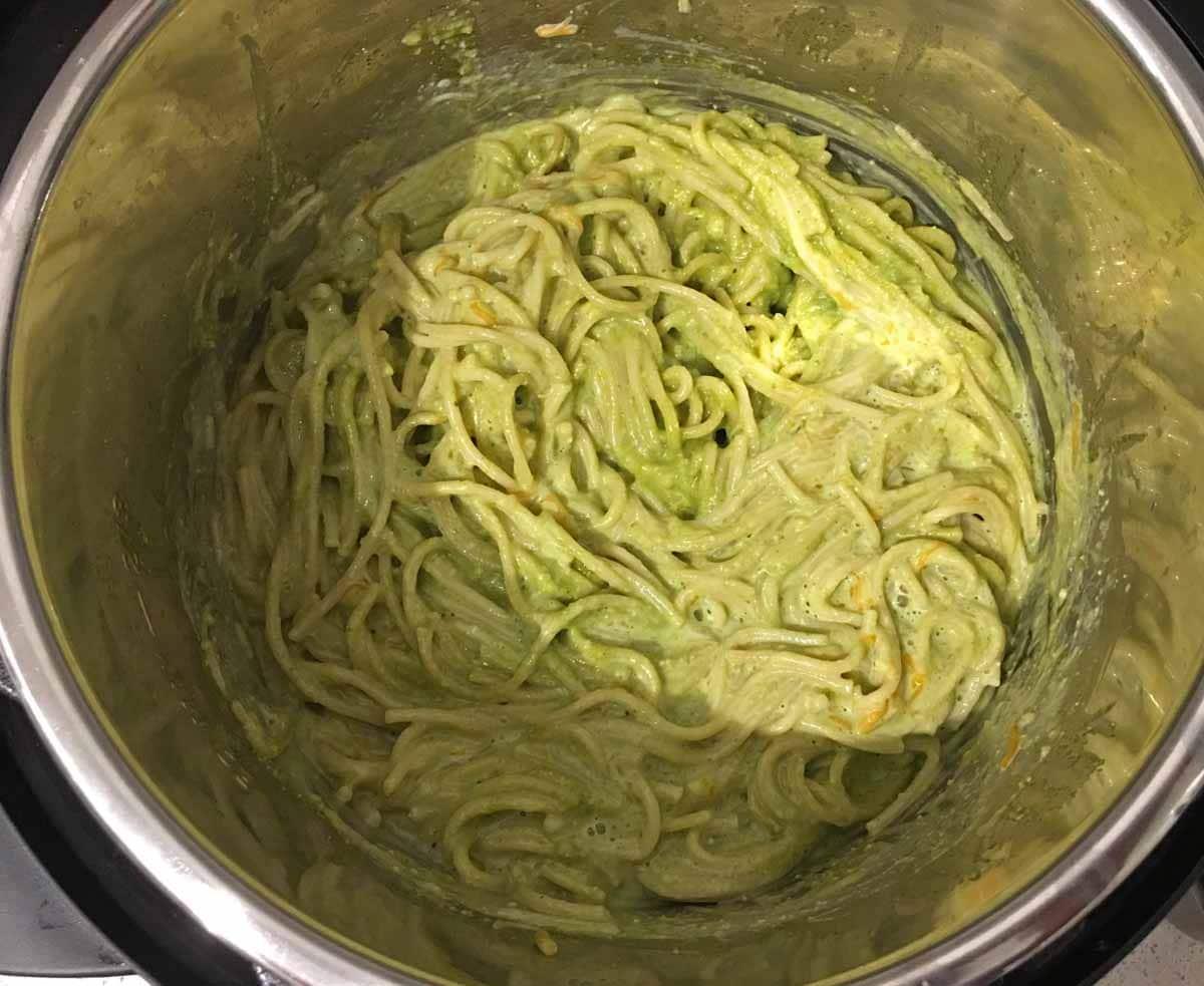 pesto spaghetti instant pot recipe
