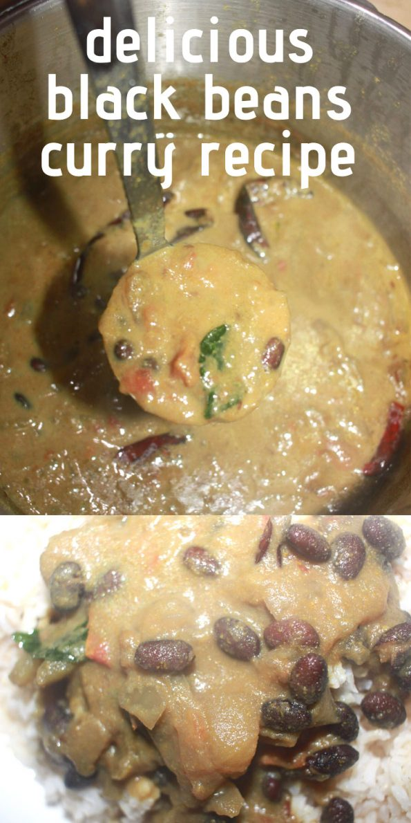 black beans curry indian style recipe