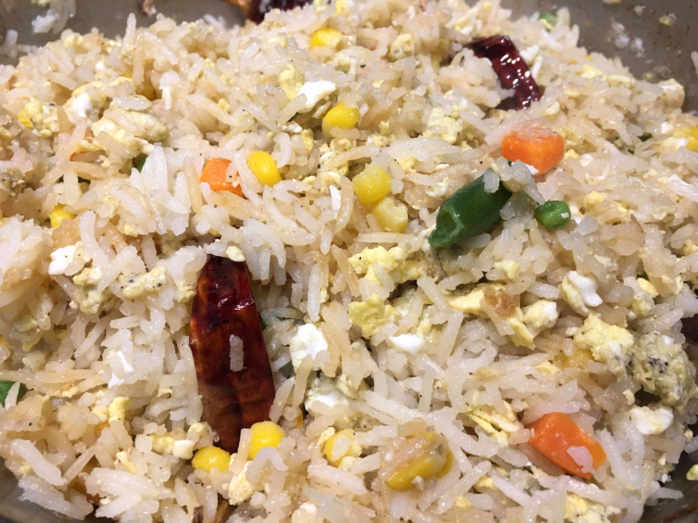 egg fried rice without wok