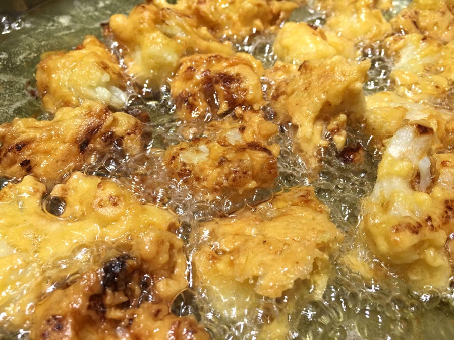 crispy cauliflower wings fried